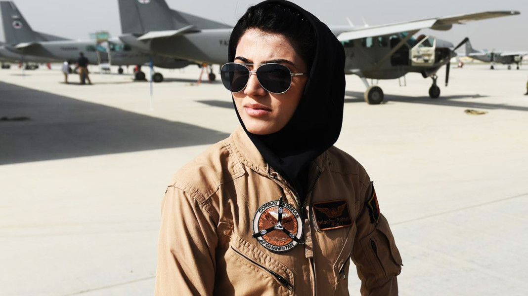 23-Year-Old Becomes Afghanistan's First Female Fixed-Wing Pilot