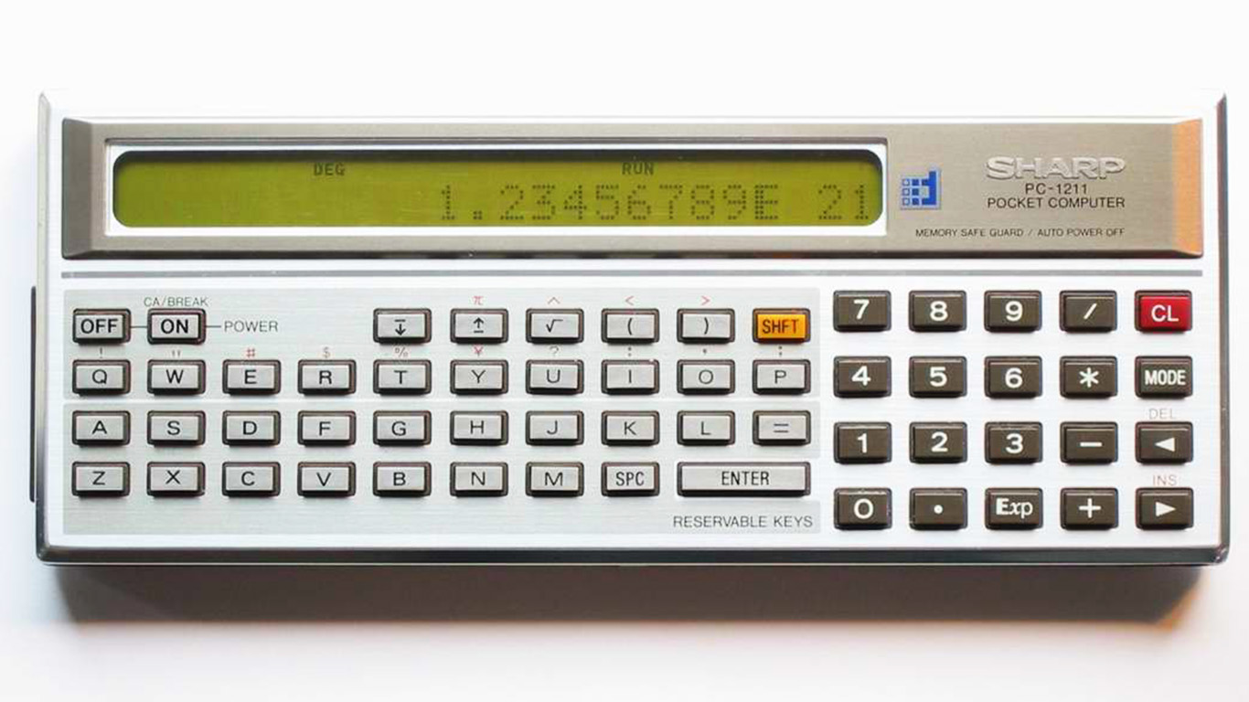 Sharp PC-1211 Pocket Computer ppcorn