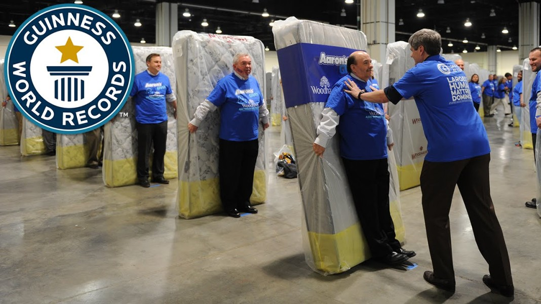 Guinness World Records: Largest Human Mattress Dominoes