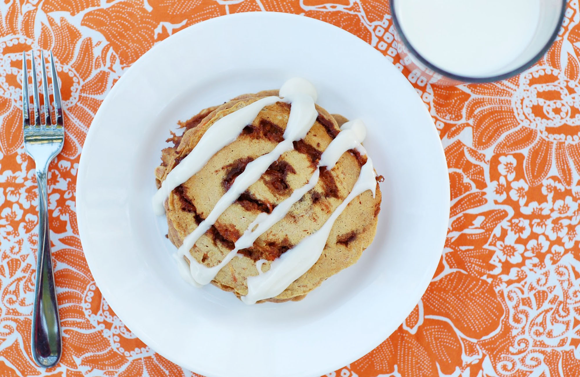 The Best Cinnamon Roll Pancakes